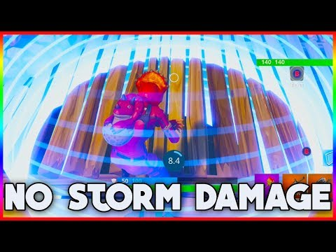 NO STORM DAMAGE GLITCH/BUG | Fortnite Battle Royale