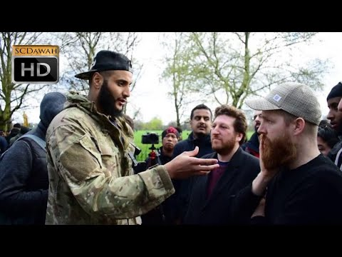 Racial Issues! Mohammed Hijab & Jewish Visitors   Speakers Corner   Hyde Park