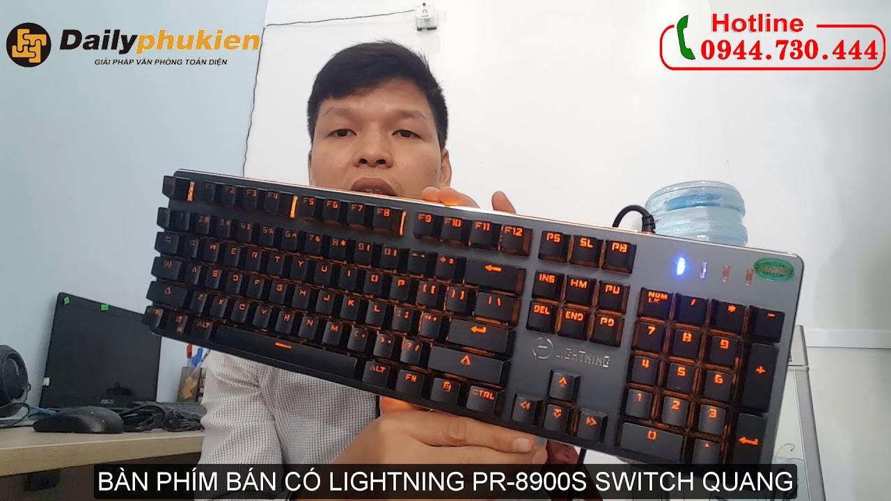 Review Bàn phím lightning pr-8900s giả cơ | Phím lightning PR8900S | Phím giả cơ lightning 8900S