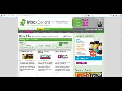 Inboxdollars Tutorial Pt 2 on Doing free offers - YouTube