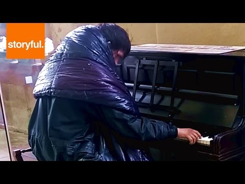 Homeless Man Plays Beethoven On Train Station Piano (Storyful, Crazy)