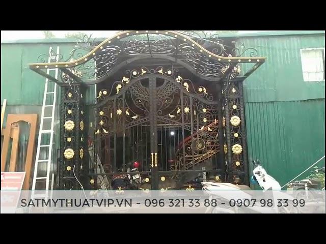 Thi công cửa cổng sắt mỹ thuật, nghệ thuật đẹp