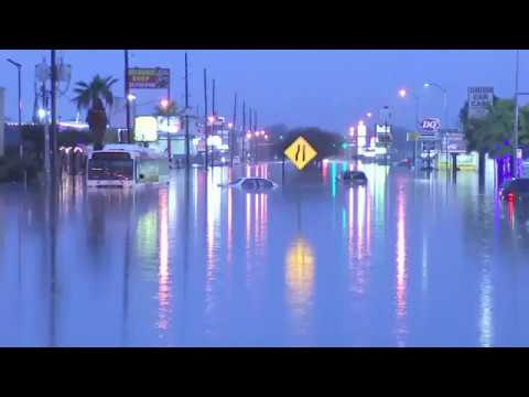 Flooding overnight has parts of Houston, Texas underwater with some areas seeing more than SIX inche