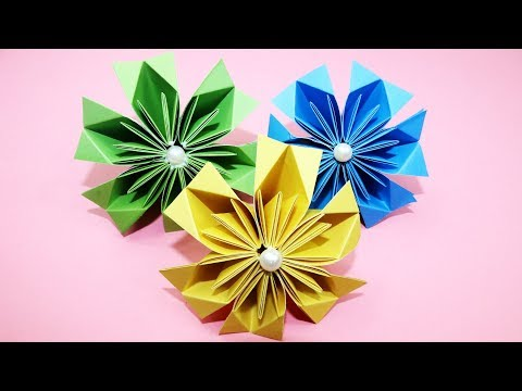 How to Make Beautiful Kusudama Paper Flower| Diy paper crafts