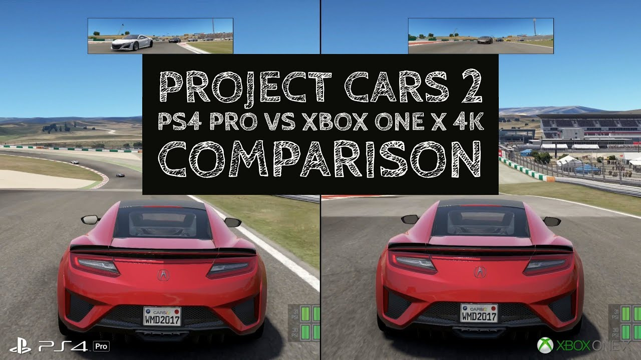 project cars 2 comparison xbox one x vs ps4 pro 4k youtube. Black Bedroom Furniture Sets. Home Design Ideas