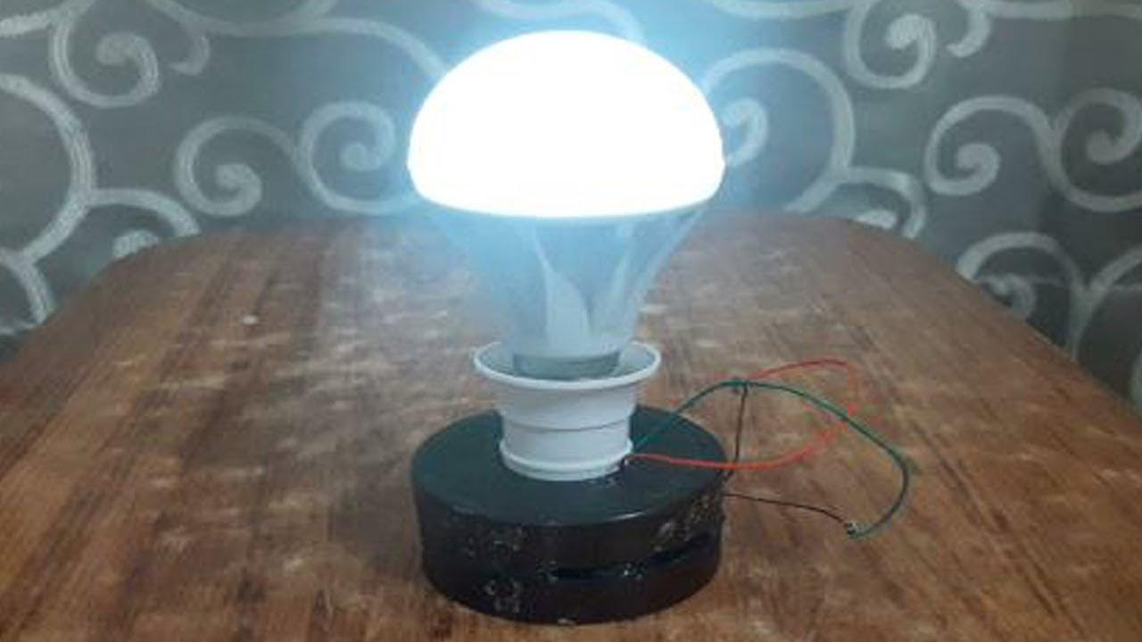 Free Electricity Generator Using Magnet, Copper Wire 12v Bulb.. The Genius Of Black