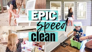 EPIC SPEED CLEAN | CLEAN WITH ME 2019 | DOING THE MOST | SAHM