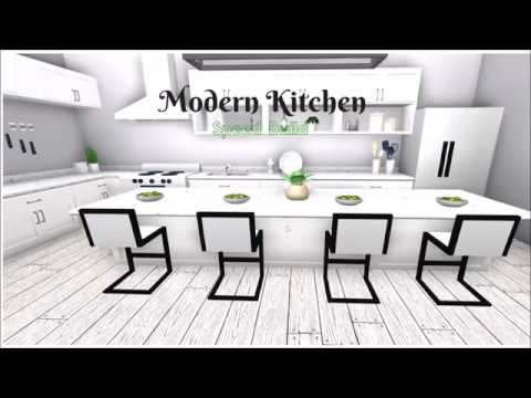 Modern Kitchen Speed Build Bloxburg Roblox
