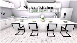 Modern Kitchen Speed Build || Bloxburg Roblox