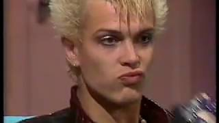 Billy Idol - rare 1984 NZ interview!!