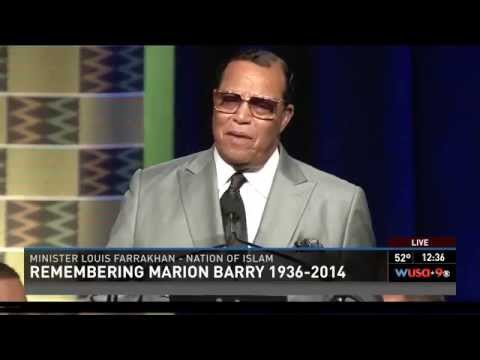 Minister Farrakhan speaking at the funeral of Mayor Marion Barry