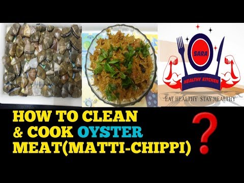 HOW TO CLEAN AND COOK CLAMS(CHIPPI)   CALCIUM RECIPE   SARA HEALTHY KITCHEN