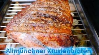 #184: Altmünchner Krustenbraten (Schweinebraten) mit Dunkelbiersauce vom Broil King Regal 490