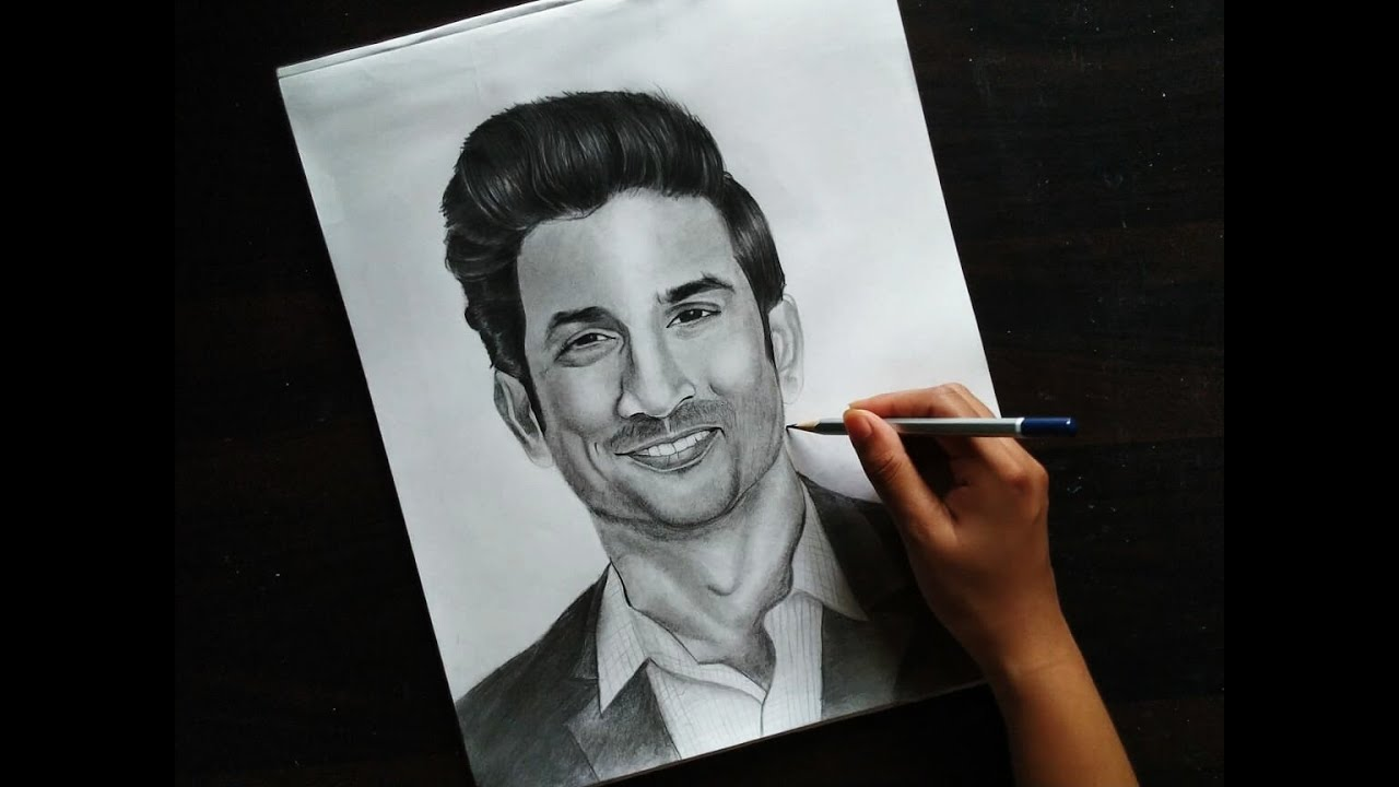 Sushant Singh Rajput Drawing / Pencil sketch Drawing of ...
