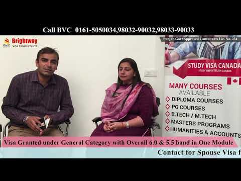 Canada Study Visa with IELTS overall 6.0 not less than 5.5. Call BVC 0161-5050034