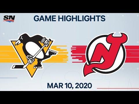 NHL Highlights | Penguins Vs. Devils - Mar. 10, 2020
