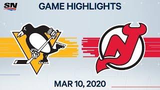 NHL Highlights   Penguins vs. Devils - Mar. 10, 2020
