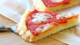 Gluten Free Rice Pizza Crust With Tomato Sauce And Mozzarella Recipe