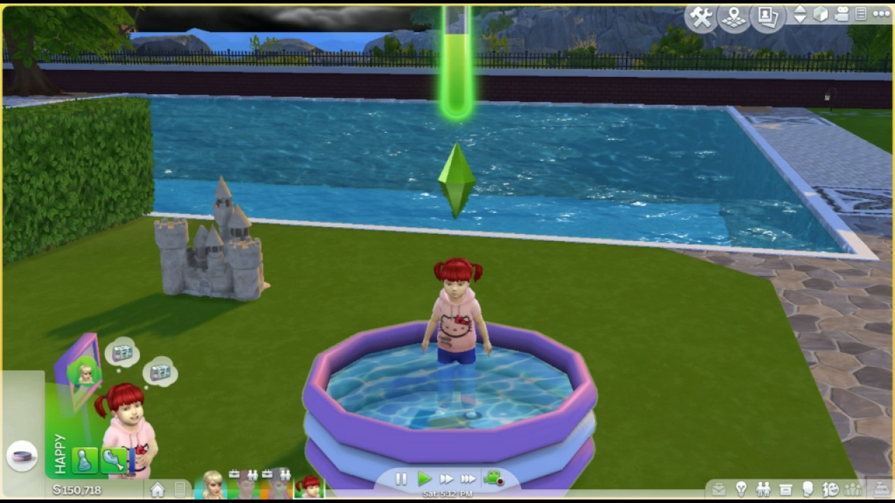 The sims 4 toddler pool costom content youtube for Pool design sims 4