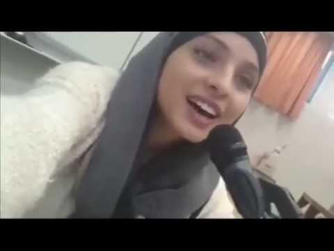 Muslim girl singing