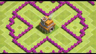 Clash Of Clans - Circle Of Death! (TH6 BEST TROPHY BASE EVER!) - New 2015 HD