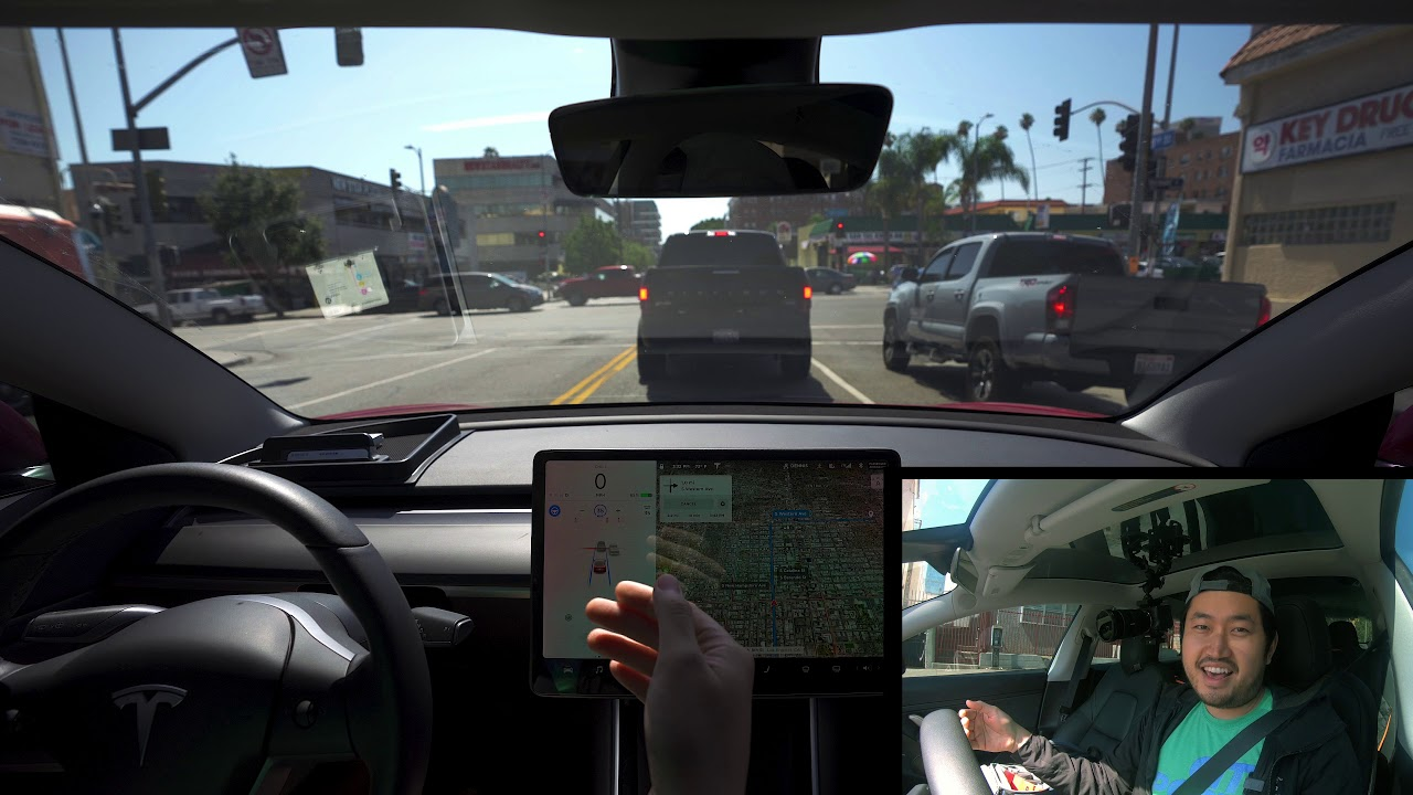 HOW GOOD is TESLA Autopilot Full Self Driving in Los Angeles? 4K