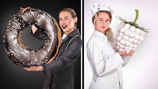видео: Чёрно-белый челлендж! 24 часа едим только черную и белую еду!