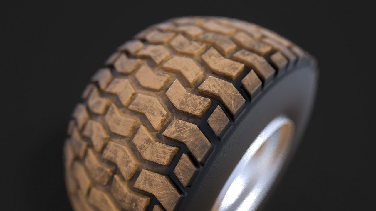 How To Create A Dirty Tire Material In Keyshot 6 Youtube