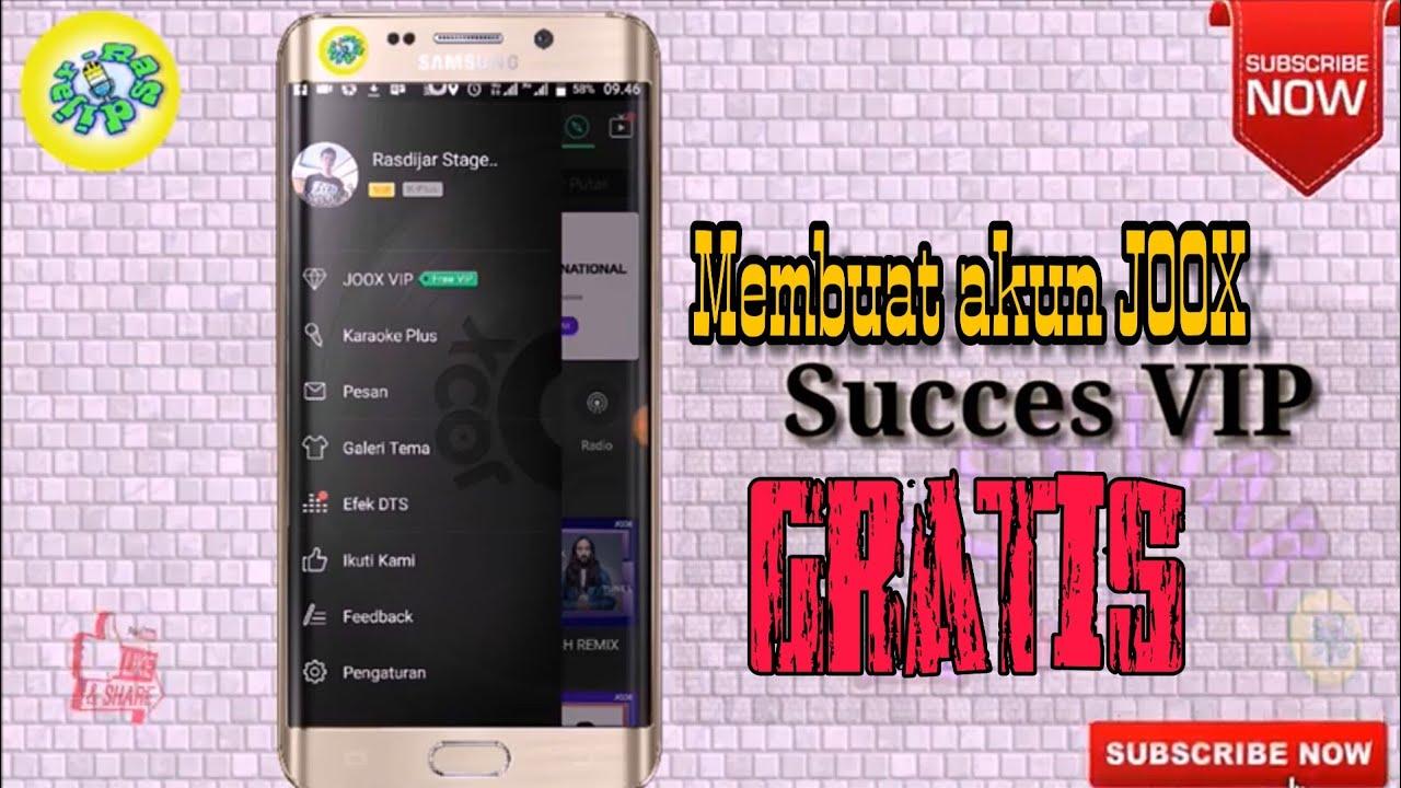 Membuat Akun Joox Vip Gratis Dengan Cara Yang Mudah Di Android Youtube