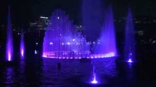 Amazing Water fountain and light show at Ocean Park in Hong Kong