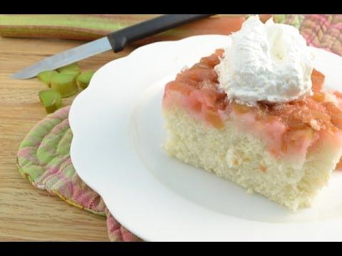 Rhubarb Upside-Down Cake Recipe | RadaCutlery.com