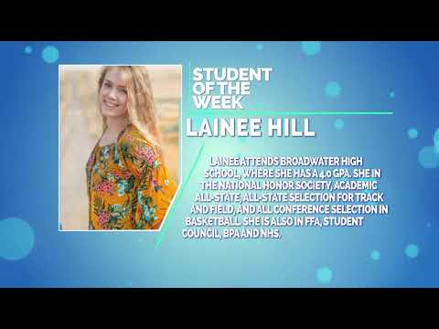 Student Of The Week: Lainee Hill of Broadwater High School