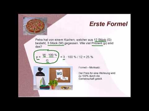 Prozentrechnung Alle Drei Formeln Youtube