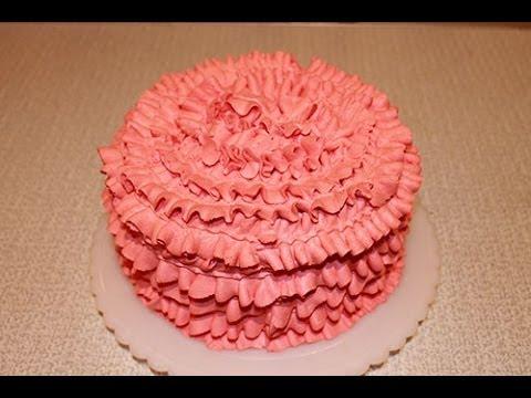 Как красиво украсить торт - YouTube
