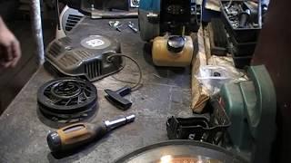 Ремонт стартера мотоблока, мотокультиватора Hysqvarna TF230