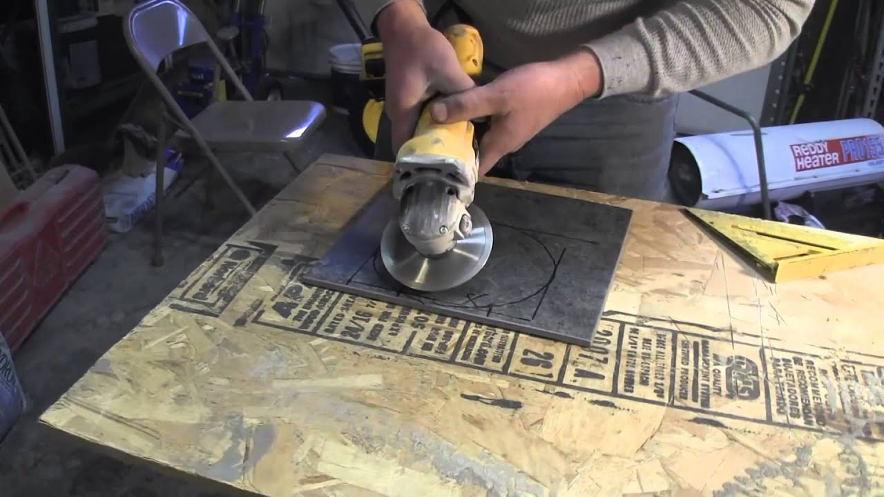How to Cut Porcelain Tile-using an angle grinder - YouTube