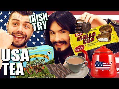 Irish People Taste Test 'AMERICAN TEA' + Cookies & Mallows!!