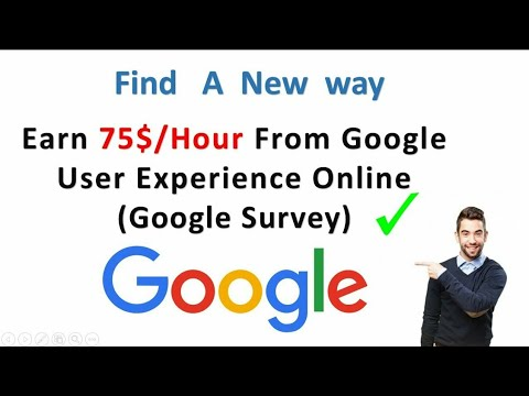 How To Earn $75 Per Hour From Google User research Program |Online Work From Home.