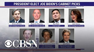 Biden makes first Cabinet picks of his administration