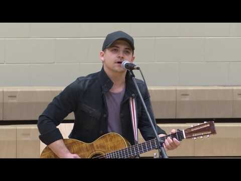 Hunter Hayes at Gettys Middle School