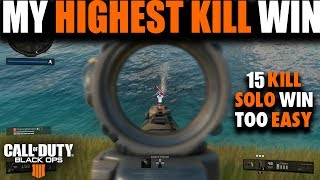 EPIC SOLO WIN GETTING MY MOST KILLS IN BLACK OPS 4 BLACKOUT | Call of Duty Black Ops 4 Battle Royale
