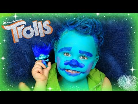 3 Year Old Does Trolls Branch Transformation!!! With BLUE Hair!!!