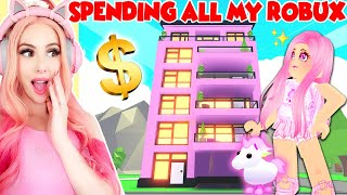 SPENDING ALL MY ROBUX On The Brand New LUXURY APARTMENTS In Adopt Me! *NEW* Adopt Me Update