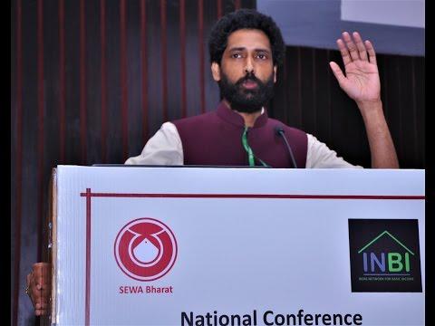 Abhishek Anand speaks at National Conference on Basic Income 2017