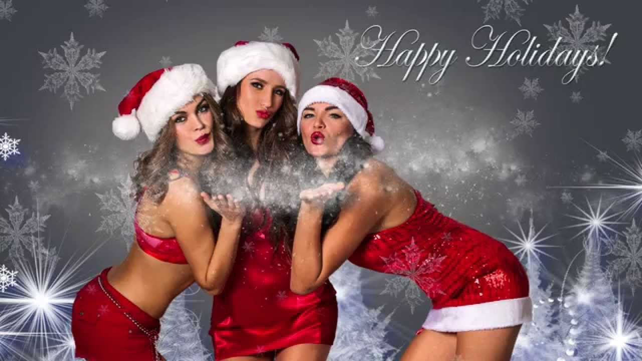sexy santas helpers photography tutorial how to create holiday greeting cards and make most popul youtube