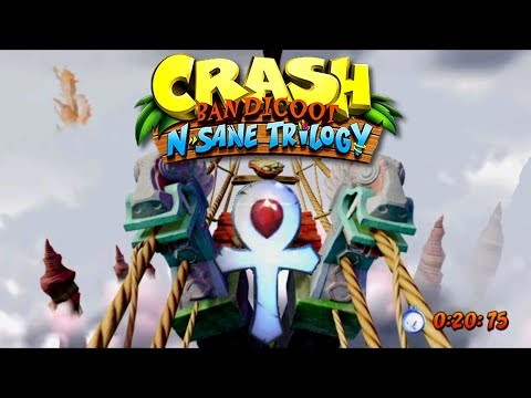 Crash Bandicoot N.Sane Trilogy HD - The High Road Speedrun Time Trial Platinium Relic 1:03:93