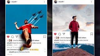 3D Instagram Post Photo Effect Photoshop Tutorial