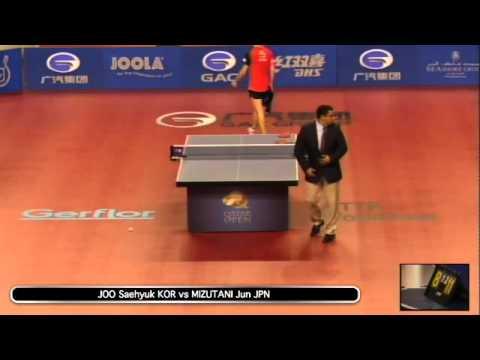 2014 Qatar Open MS R3 JOO Saehyuk KOR vs MIZUTANI Jun JPN