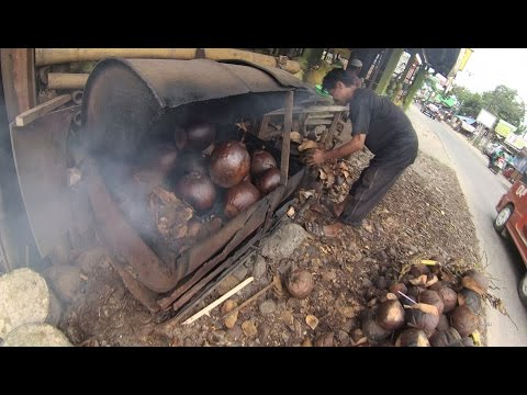 Greater Jakarta Street Food 1307 Part.1 Burned Coconut Kelapa Bakar Jalan Karang Satria Bekasi