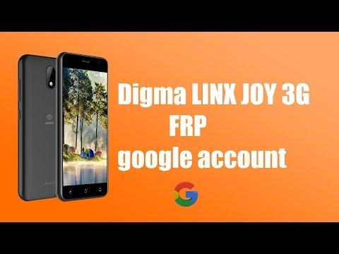 Digma Linx Joy 3g обход Google аккаунта Frp